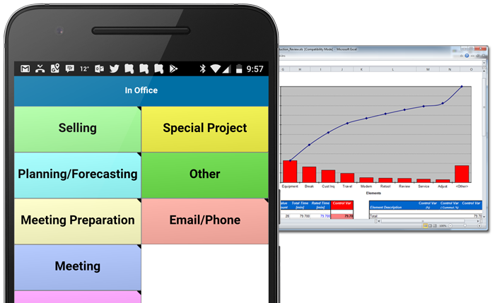 Work Measurement Software for iOS and Android with Excel
